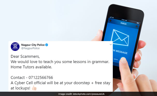 In Epic Tweet, Nagpur Police Offer Scammers Grammar Lessons. Bonus - Free Stay...