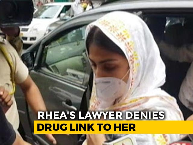 """Video : Rhea Chakraborty """"Has Never Consumed Drugs"""", Says Lawyer Amid Allegations"""