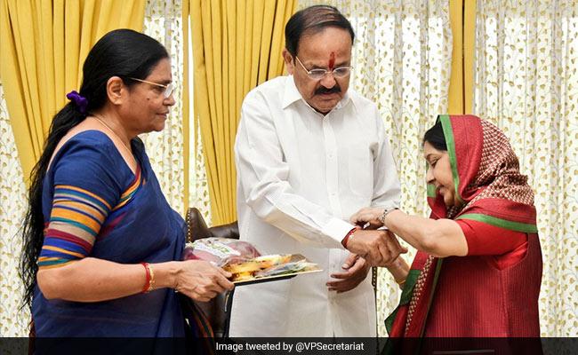 'Dear Sister Sushma, Missing You A Lot': Vice President On Raksha Bandhan
