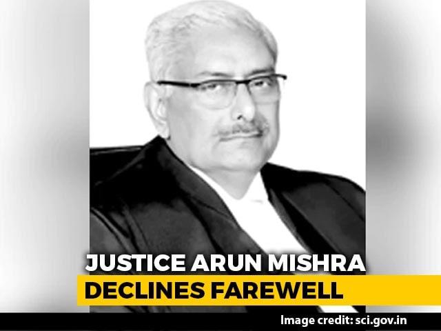 Video : Justice Arun Mishra Declines Farewell Invitation Over Coronavirus Crisis
