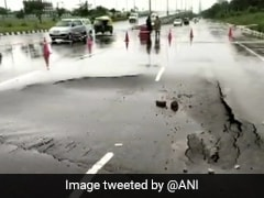 Road Cave-In, Flooded Streets: Gurgaon Scenes After Heavy Rain