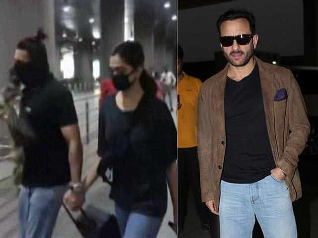 Video : Ranveer & Deepika Spotted At Mumbai Airport, Saif To Pen His Autobiography