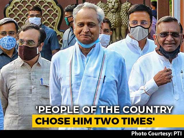 "Video : ""End This <i>Tamasha</i>"": Ashok Gehlot To PM Modi On Rajasthan Crisis"