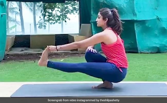 Ekapada Malasana Yoga Asana That Helps Shilpa Shetty Kundra Achieve Good Posture And Body Balance