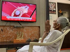 PM Modi's Mother Watched Ayodhya Temple Ceremony On TV