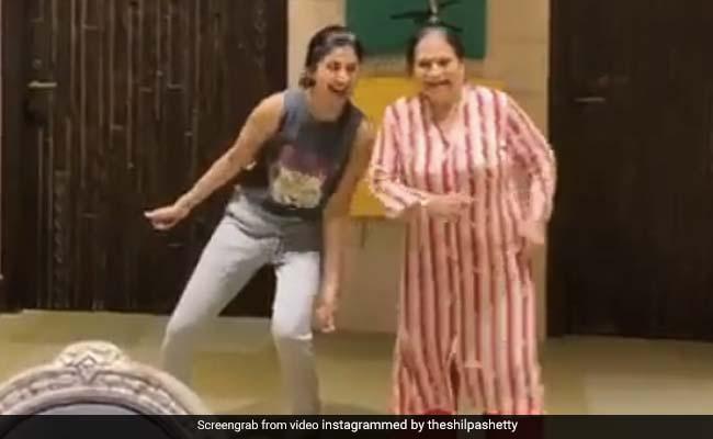 Shilpa Shetty Celebrates 'Rockstar' Mom-In-Law's Birthday With Some Bhangra Shangra
