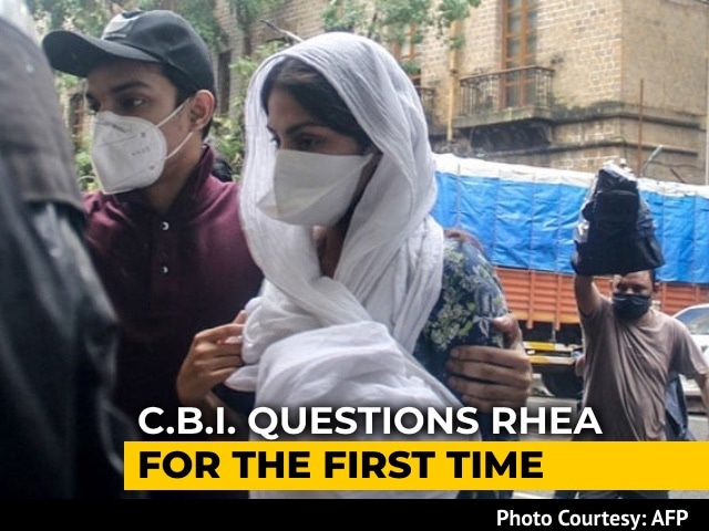 Video : Rhea Chakraborty Questioned For More Than 10 Hours By CBI, Summoned Again