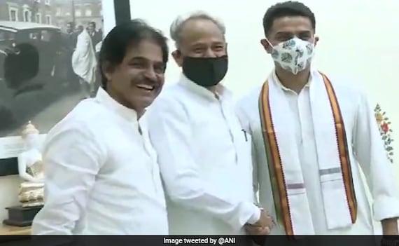 Smiles, Handshake As Sachin Pilot, Ashok Gehlot Meet After Congress Truce