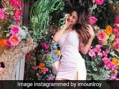 मौनी रॉय ने फूलों से लदे पेड़ों के साथ दिए जबरदस्त पोज, पिंक कलर के आउटफिट में Photos हुईं वायरल