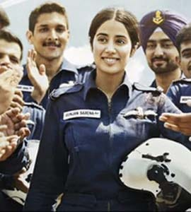 Gunjan Saxena The Kargil Girl Movie Review Spry Biopic Flies Light With Passably Steady Janhvi Kapoor 3 5 Stars Out Of 5