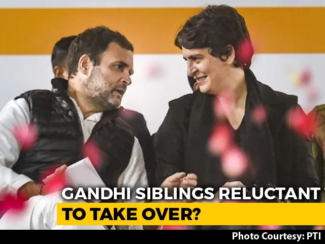 Video : Rahul Gandhi, Priyanka Gandhi Reluctant To Accept Top Post: Sources