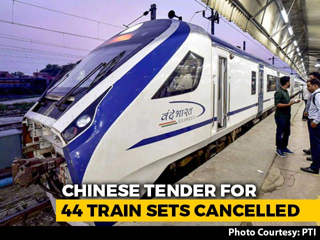 Video : Tender For 44 Trains Cancelled After Bid From Chinese Joint Venture