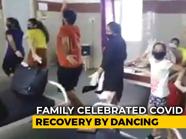 Video : Watch: Madhya Pradesh Family's Dance Of Life After Testing Covid Negative