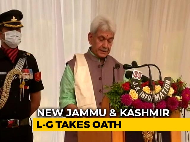 Video : Manoj Sinha Takes Oath As New Lieutenant Governor Of Jammu And Kashmir