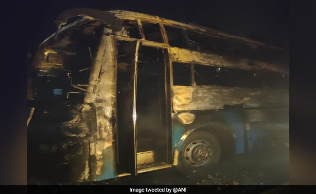 5 Dead, 27 Injured As Bus Catches Fire In Karnataka's Chitradurga