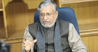 BJP Workers Gherao Sushil Modi Over Ticket Issue In Bihar