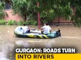 Video : Boat On Waterlogged Road, Submerged Underpasses: Rain Paralyses Gurgaon