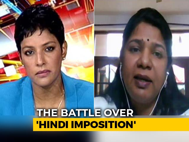 Video : 'Like Excluding One Part Of Country': Kanimozhi On Language Row