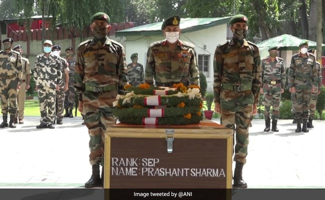 UP Announces Compensation, Job To Family Of Jawan Killed In J&K Encounter