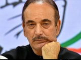 "Video : Appointed Chief ""May Not Even Have 1% Support"": Ghulam Nabi Azad's Memo"
