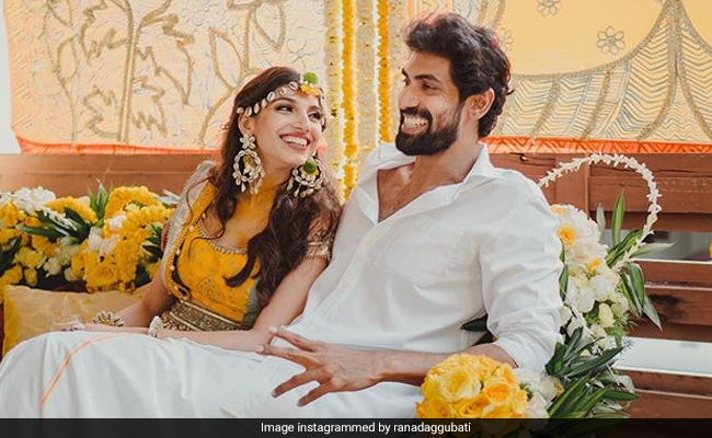 A Pic Of Both Miheeka Bajaj And Rana Daggubati From Haldi Ceremony. Enough Said