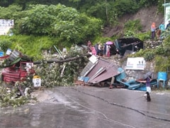 In Uttarakhand, Landslide, Heavy Rain Damage Shops, Block Road