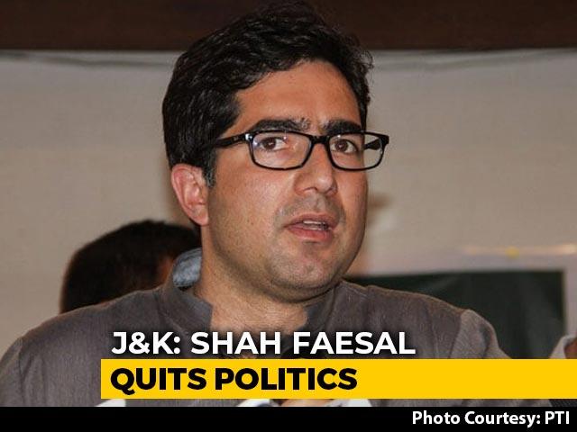 Video: Jammu And Kashmir Leader Shah Faesal Quits Politics