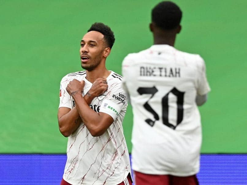 Watch: Pierre-Emerick Aubameyang Pays Tribute To Chadwick Boseman After Stunning Goal In Community Shield