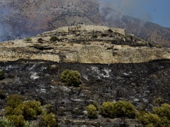 Wildfire Rages Near Greek Ruins Of Bronze Age Site Of Mycenae