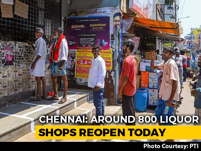 Video : Chennai: Liquor Shops Reopen After Nearly 5 Months