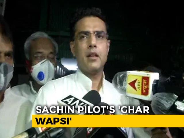 Video : Truce Done, Sachin Pilot Heads To Jaipur; Upset Ashok Gehlot To Jaisalmer