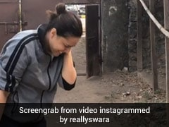 स्वरा भास्कर ने हाथ में ली पिस्तौल और चला दी गोली लेकिन फिर जो हुआ...देखें VIDEO