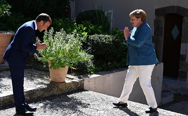 Watch: Macron, Merkel Switch To Namaste In The Time Of Covid