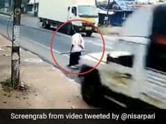Caught On Camera: Kerala Man's Narrow Escape From Speeding Vehicle