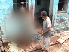 Agra Man, Caught On Camera Beating Son Tied Upside Down, Arrested