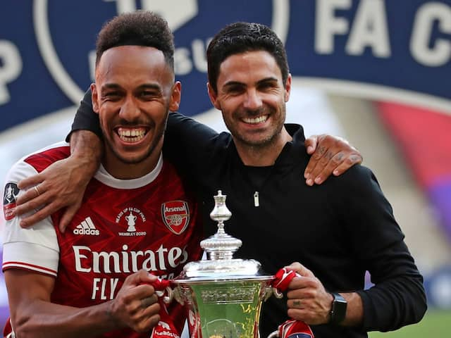 Mikel Arteta Says Pierre-Emerick Aubameyang Wants To Stay At Arsenal After FA Cup Win
