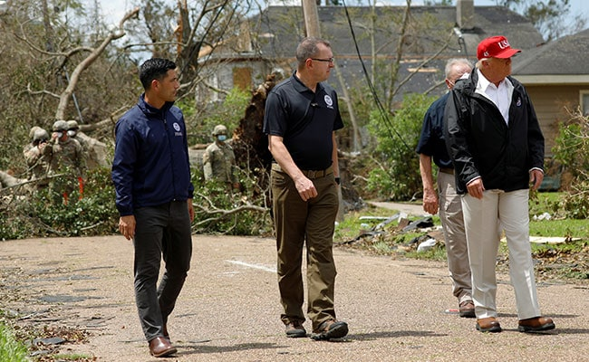 Trump Visits Areas Hit By Hurricane Laura