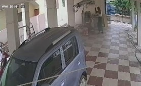 Caught On Camera: Andhra Man Walks Up Behind Son, Hammers Him To Death