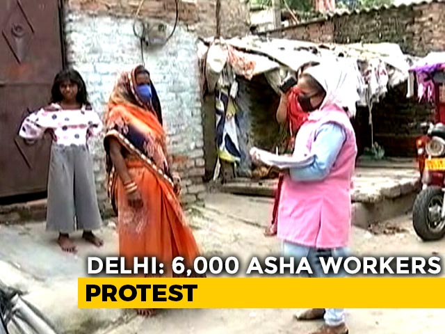 """Video : """"Scared Of Infecting Our Children"""": Delhi COVID-19 Warriors On Strike"""
