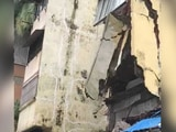 Video : On Camera, Portion Of Building In Rain-Hit Mumbai Collapses