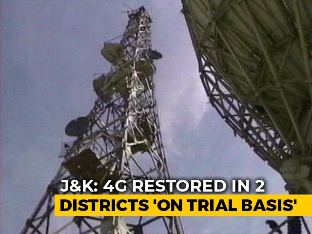 Video : 4G Mobile Internet Services Restored In 2 Districts Of J&K As A Trial
