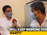 "Video : ""I've Never Made Personal Attacks On Anyone"": Sachin Pilot To NDTV"