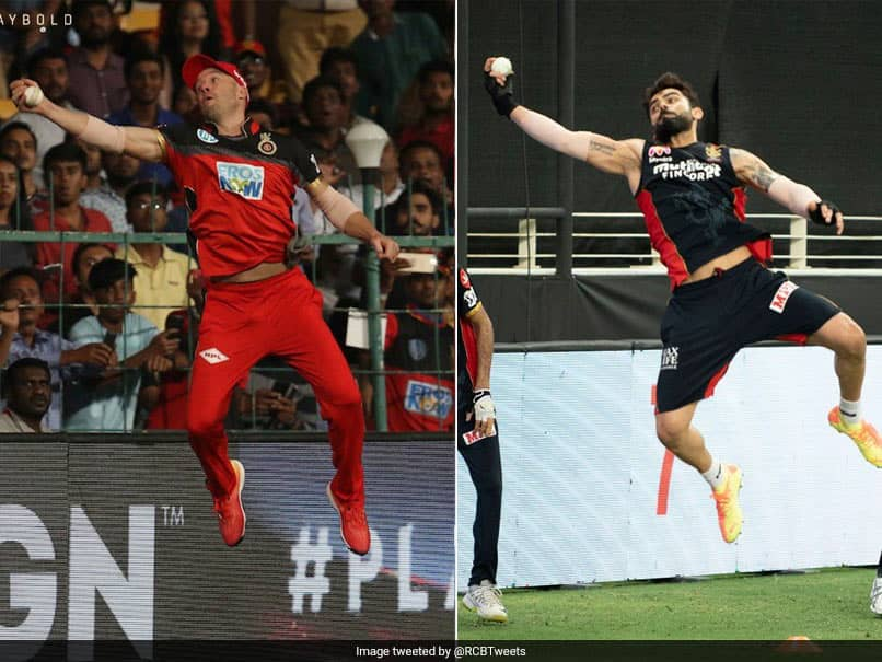 IPL 2020: Virat Kohli Recreates AB De Villiers Famous Superman Catch During RCB Training Session