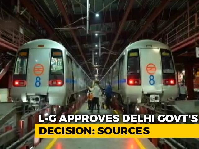 Video : Restarting Of Delhi Metro From Monday Cleared By Lt Governor: Sources