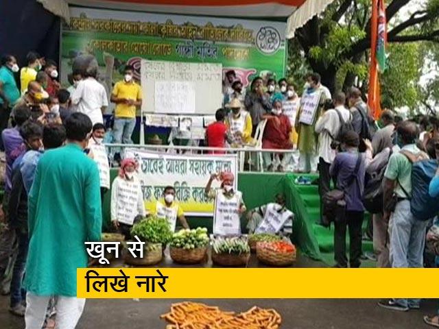 Videos : किसान कानून के खिलाफ सड़क पर उतरे तृणमूल कार्यकर्ता