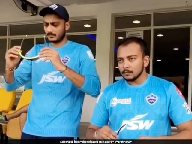 IPL 2020: Prithvi Shaw Shares Video Of Axar Patels Epic Fail With Sunglasses. Watch