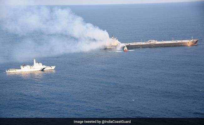 Oil Tanker Fire Near Sri Lanka Coast 'Under Control', Vessel Towed Away