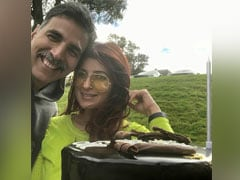 Akshay Kumar's Small Birthday Celebration Had A Big Cake; Twinkle Khanna Shared Pics