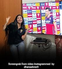 Watch: Chahal's Fiancee Dhanashree Reacts To His Man Of The Match Award