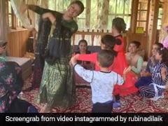 टीवी एक्ट्रेस Rubina Dilaik ने पहाड़ी गाने पर बच्चों संग किया डांस, वायरल हुआ Video